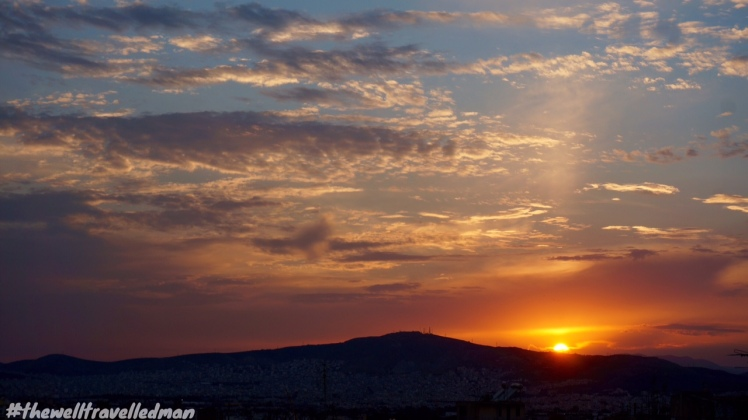 thewelltravelledman a is for athens sunset