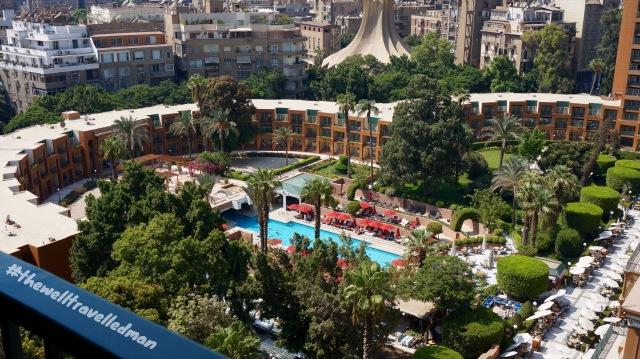 thewelltravelledman view from the room cairo marriott