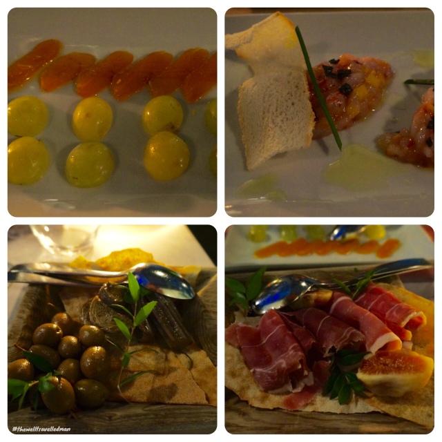 thewelltravelledman thotel cagliari dinner starters