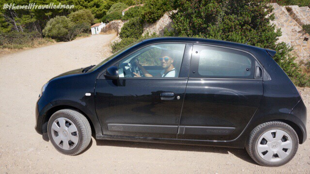 Our hire car in Sardinia