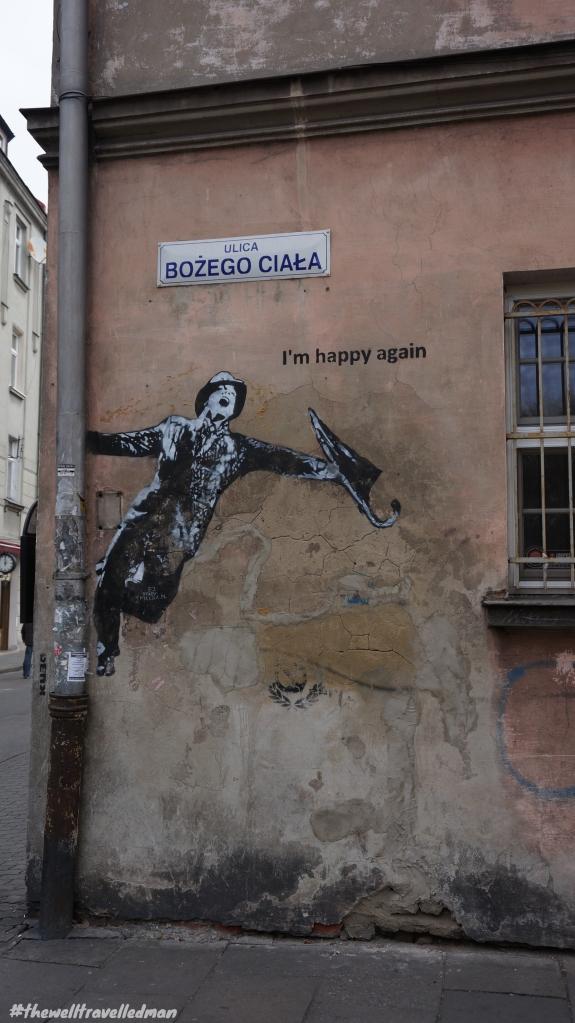 Krakow old town graffiti