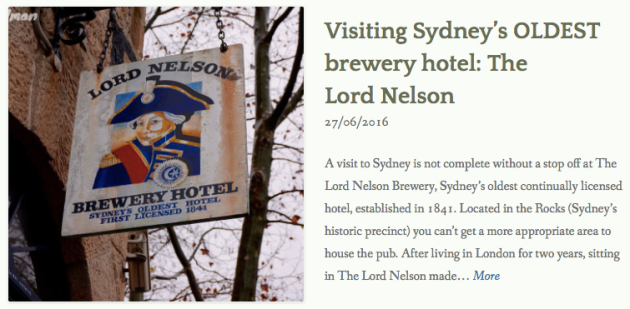 thewelltravelledman visiting sydney's oldest pub hotel the lord nelson