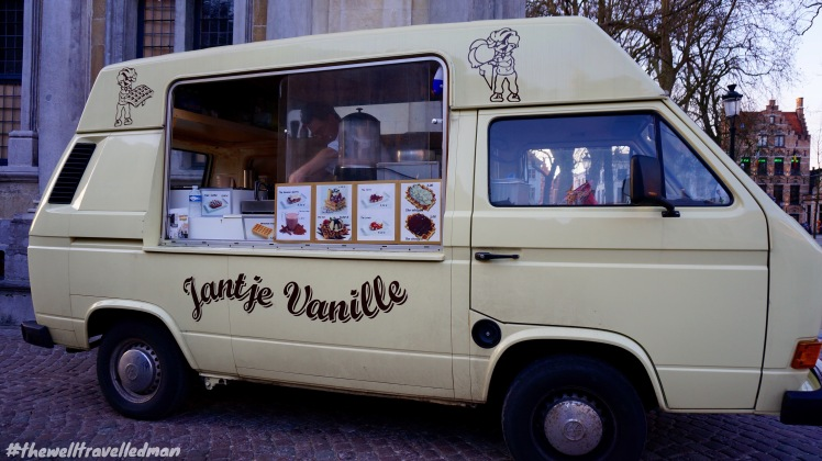 Bruges old town - The most incredible waffle van you can visit!