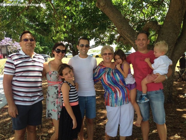 Our farewell at New Farm Park, Brisbane - my family