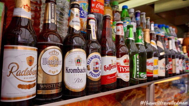 Beer for sale at the local vendor at the train station
