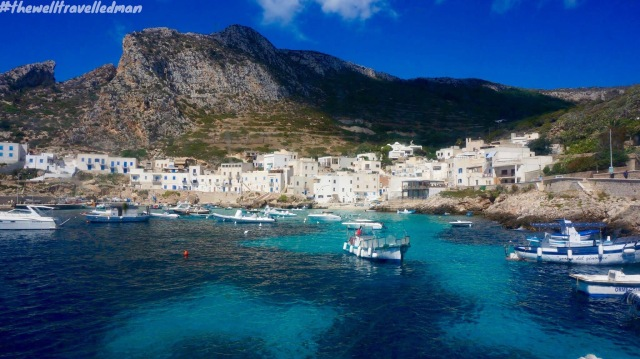 The port of Levanzo on our way to Favignana