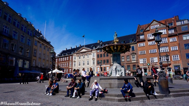 One of the squares in the middle of the shopping precinct