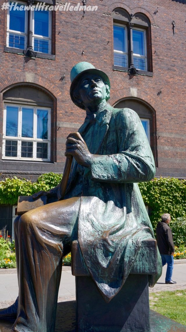 The statue of the famous Hans Christian Andersen